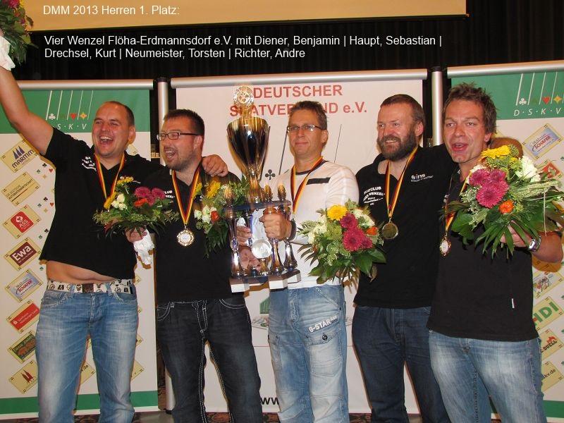 Skat Deutsche Mannschaftsmeisterschaft 2013 - Sieger Herren