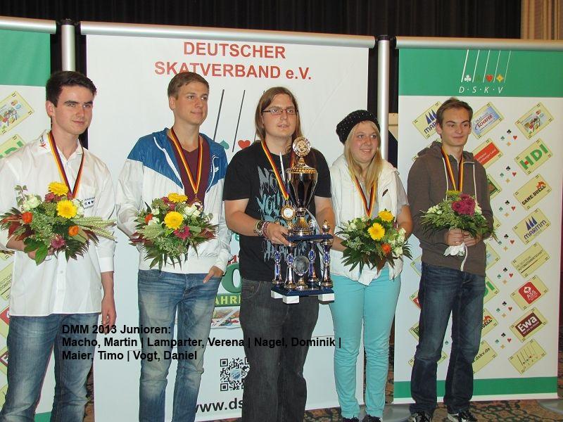Skat Deutsche Mannschaftsmeisterschaft 2013 - Sieger Junioren